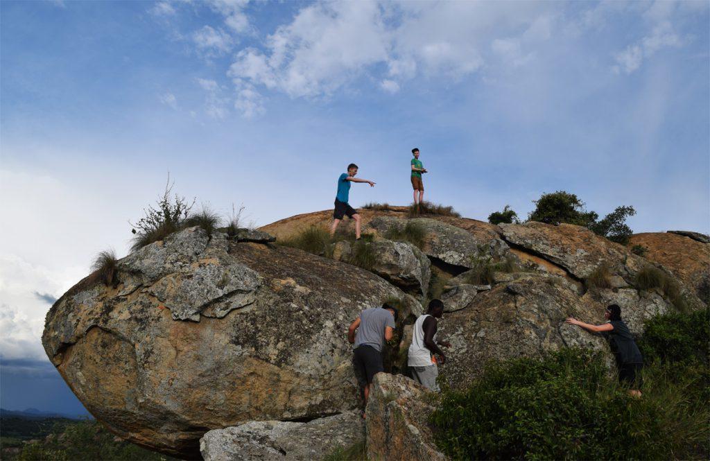 Auf den Felsen bei Harare, der Hauptstadt von Zimbabwe