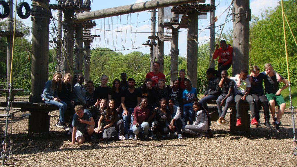 Gruppenfoto im Klettepark Bielefeld